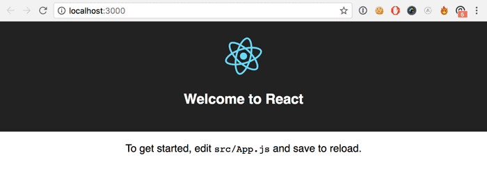 create-react-app running out of the box